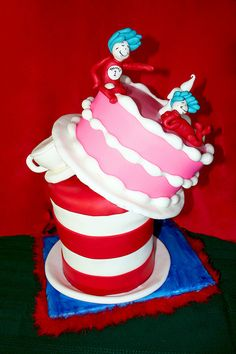 Thing 1 And Thing 2 For my daughter's and son's combined birthday party. Combined Birthday Parties, 2nd Birthday Parties, Birthday Ideas, 1st Birthdays, Cupcake Cakes, Cupcakes, Kid Cakes, Cupcake Ideas, Cake Albums