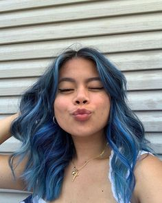 Bad Hair Day, Kiss You, Blue Hair, Vibrant, Turquoise, Color, Fashion, Moda, Colour