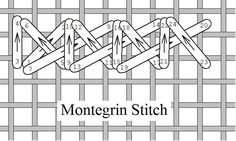 I ❤ embroidery . . . Montegrin Stitch, Stitch of the Month July 2011 ~By Needlelace