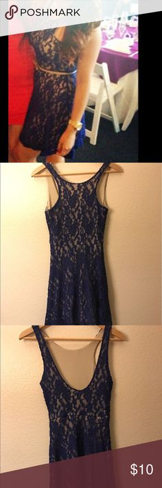 Dress Royal blue Mimi chica lace dress *small snag on the back of dress could be easily fixed* Mimi Chica Dresses Mini