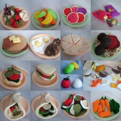All Twisted Up: Tutorials, Recipes & Patterns= Felt Food