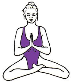 prayer mudra in easy pose