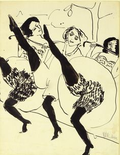 Hamburg Dancers - Ernst Ludwig Kirchner.
