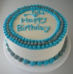 Simple Male Birthday Cake - The client wanted a simple cake for a male adult