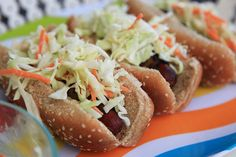 Bacon Wrapped Hot Dogs with Coleslaw by prudentbaby #Hot_Dogs #Bacon #Coleslaw