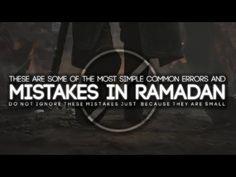 Common Mistake Muslims Make in Ramadan - YouTube