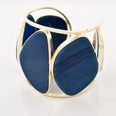 Marcia Moran Blue Agate Chunky Cuff | Rain Collection
