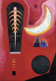 Loose in Red,1925,by Wassily Kandinsky