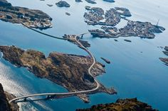 A Beautiful but Perilous Road That Snakes Over the Norwegian Sea on The Orange Co.