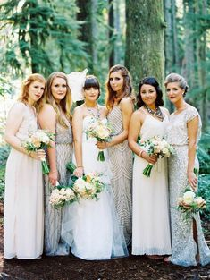 To see more gorgeous details about this Oregon wedding: http://www.modwedding.com/2014/11/06/charming-rustic-outdoor-oregon-wedding/ #wedding #weddings #bridesmaid_dress photo: Erich McVey Photography