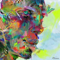 "Archan Nair - New Illustration titled "" Iris Drops """