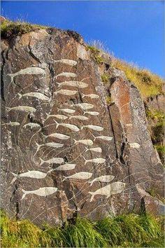 Stone glyphs in Greenland.