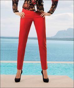 Joseph Ribkoff | Pants | Ravishing Red | Flattering | Slim