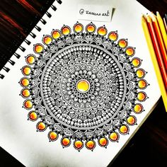 """194 Likes, 15 Comments - Zareen Taj Hidhayath (@zareensart) on Instagram: """"My Gem stone Mandala❤I couldn't stop myself from drawing these gems!!I just love them and would…"""""""