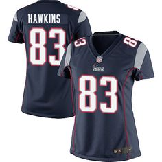 Nike Elite Lavelle Hawkins Navy Blue Women's Jersey - New England Patriots #83 NFL Home