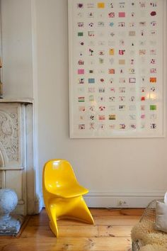 Shrink children's masterpieces down to create one large piece of art, collage style.  Via Stella & Henry