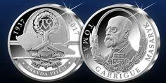 Tomáš Garrigue Masaryk na oficiální stříbrné medaili z 5 uncí ryzího stříbra