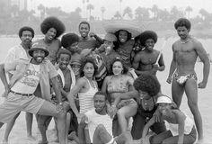 pThe Soul Train Gang enjoys fresh air in June of Soul Train Dancers, Afro Dance, The Playboy Club, Running Music, Civil Rights Leaders, Black Celebrities, Grown Women, Black Image, Cornelius