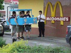 #myMINEOLA Funny Stuff.  Meanwhile at the fast food's drive thru counter :D Cc. @Aelke_Mariska @Gisella Anastasia