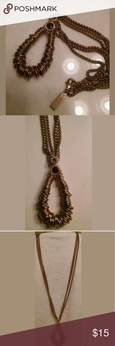 Ann klein long layered necklace See pics. Had for a long time so there is some tarnishing. Has some weight to it. Offers welcome. ann klein Jewelry Necklaces