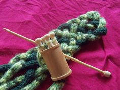 spool knitting - i remember doing this as a kid!