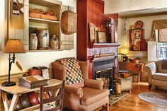 Primitives in Motion: To underscore her love of primitives, a freethinking country enthusiast creates ever-evolving montages in her 1860s Massachusetts farmhouse. (Photographed and styled by Franklin & Esther Schmidt)