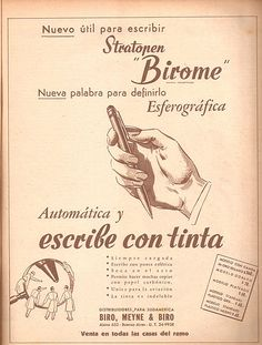 Did you know that today, June is International Ballpoint Pen Day? On this day in 1943 the patent for the ballpoint pen was filed by the Biro brothers in Argentina. That's a pricey pen for Vintage Ads, Vintage Posters, Newspaper Printing, Today In History, Doodle Lettering, Biro, New Tricks, Ballpoint Pen, Advertising