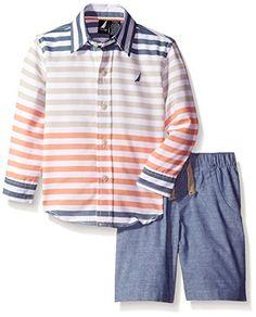 Nautica Little Boys' Two Piece Long Sleeve Shirt Set with Pullon Bottom,Orange,2T Nautica http://www.amazon.com/dp/B015KHJBOI/ref=cm_sw_r_pi_dp_jvR.wb0H5ZQ7J