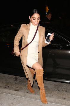 Vanessa Hudgens arriving at Catch LA in West Hollywood - December 27th