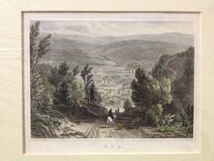 SPA, Belgium - c1840 Hand Coloured Engraving - Drawn & Engraved By Shury