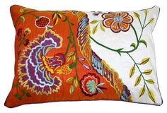 14 x 20 embroidered and appliqued pillow by Tribal Touch - $59