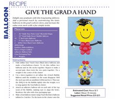 Give the Grad a Hand — A balloon bouquet to honor the special graduate in your life.
