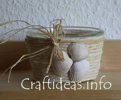 Vasetto con conchiglie su Craftideas