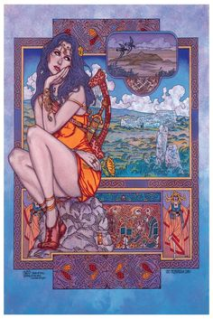 Sabd the Deer Goddess by Jim Fitzpatrick   I had this on a poster back when I lived in Ireland, from a local music festival. Always wanted another copy of it!