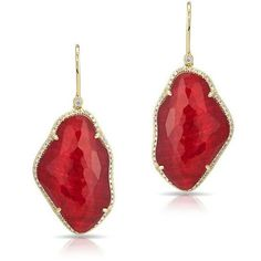 14KT Yellow Gold Ruby Nuage Diamond Earrings ($1,640) ❤ liked on Polyvore featuring jewelry, earrings, accessories, gold earrings, gold jewellery, diamond earring jewelry, gold earrings jewelry and diamond jewellery