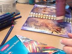 Watercolor Pencils and Inktense Art Journal Background