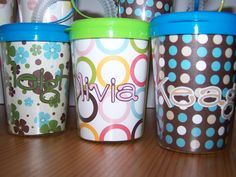 Personalized Cups   I made for class gifts