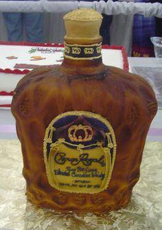 Crown Royal Groom Wedding Cake