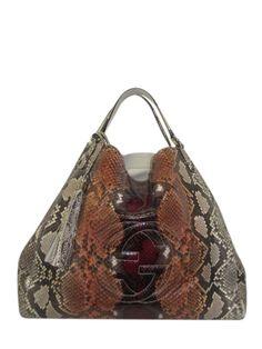 74a9b8e9716 Gucci Multicolor Python Soho Large Shoulder Tote - Keeks Buy + Sell  Designer Handbags