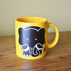 Retro Elephant Coffee Mug - Waechtersbach West Germany
