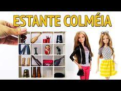 Como fazer uma Estante com Nichos para Barbie e outras Bonecas! - YouTube