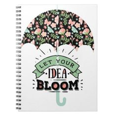 Idea Bloom Umbrella Notebook - floral style flower flowers stylish diy personalize