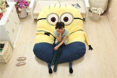 Minion Sleeping Bed Despicable Me 2 Large Toys Cartoon Mattress Stuffed Plush Cushions Home Decor Decoration Child Minions Mat