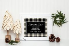 Mimosa Bar Sign, Mimosa Party, Christmas Decorations, Cocktails Holiday Party, Black and White Plaid, Margarita Table Decor, Photo Prop