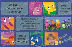 Personalize sua Arte: Convite Aniversário Infantil - Backyardigans