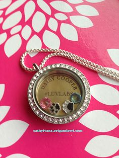 My newest locket!!!  Love that you can tell your story.  #luvlabs #lovemylabs #mamalabs #personalizedjewelry