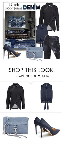"""All Denim, Head to Toe"" by evachasioti ❤ liked on Polyvore featuring STELLA McCARTNEY, Iris & Ink, Rebecca Minkoff, Jimmy Choo, Dsquared2, denim, jeans, polyvorecontest and alldenim"