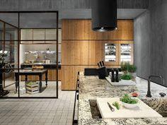 дневник дизайнера: Современные кухни из дерева не скрывают своей сущности