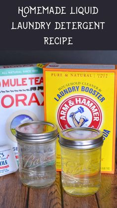 2 Ingredient Homemade Laundry Detergent Booster - The Homespun Hydrangea. See how to make this homemade laundry detergent recipe with just 2 ingredients. It only takes minutes and can help you achieve cleaner, fresher clothing fast. House Cleaning Tips, Spring Cleaning, Cleaning Hacks, Hacks Diy, Laundry Detergent Recipe, Homemade Detergent, Clean Dishwasher, Cleaners Homemade, Diy Cleaners