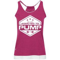 Addicted To Pump Juniors' Vintage Heathered Tank